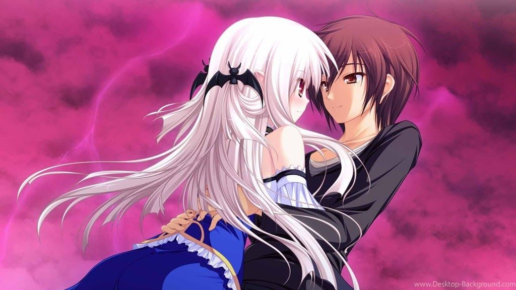 3d Anime Couple Wallpaper Di 2020 Animasi