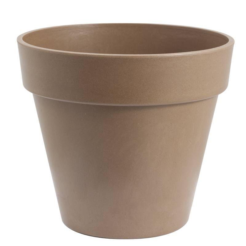 "Bamboo Pot, Flower - Taupe (6"" diameter x 5.5"" high) - Biodegradable Pots - Seed Starting - Growing Supplies"