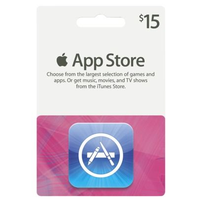 Apple iTunes 15 App Store Gift Card Cartão presente