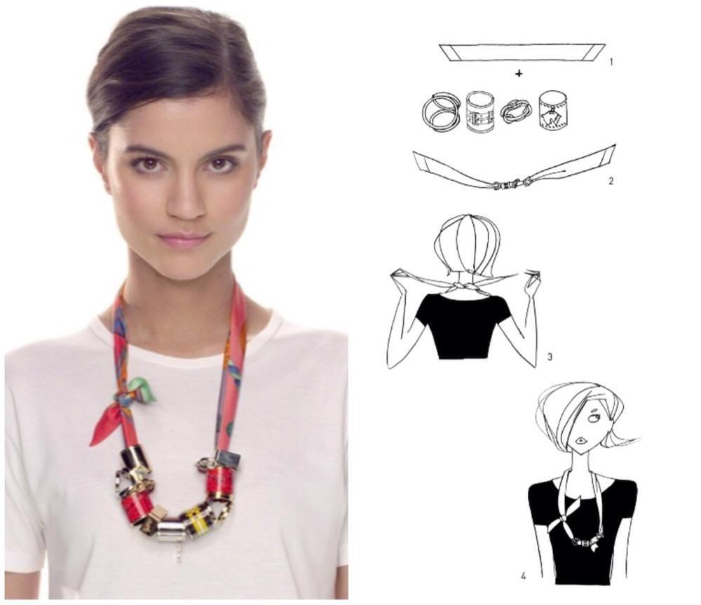 106daf5b976a How To Tie A Scarf - Hermès Scarf Knotting Cards - Twilly Necklace ...