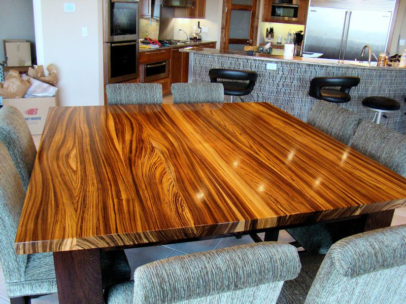 Ordinaire Zebrawood Table Top With Wenge Base