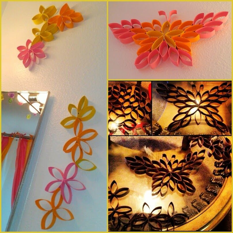 D.I.Y Wall Art made from Toilet Paper Rolls
