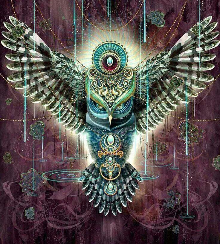 B) Visionary art, Art, Owl art