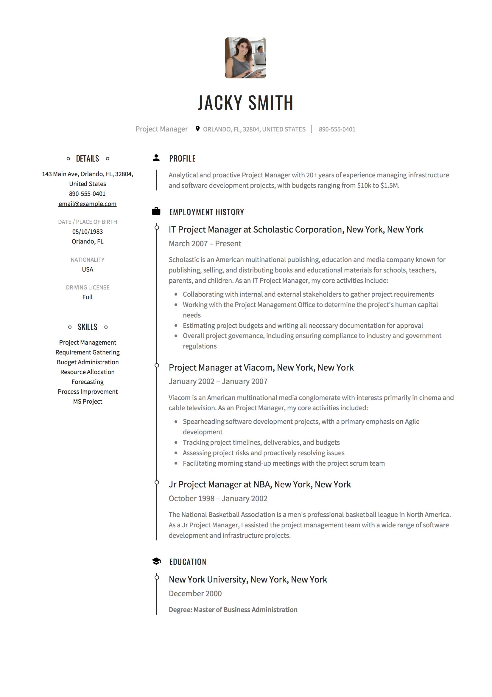 Project Manager Resume & Guide (With images) Project