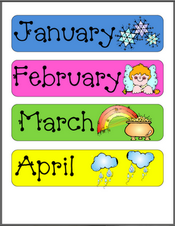 months of the year school ideas classroom calendar classroom preschool calendar. Black Bedroom Furniture Sets. Home Design Ideas