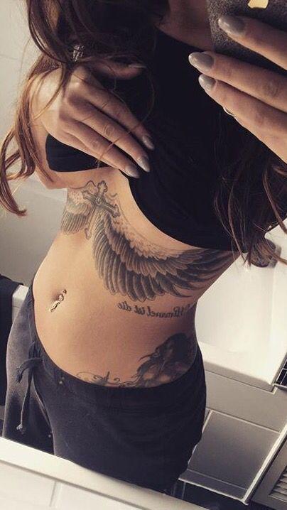 Wings Under Breast Tattoo : wings, under, breast, tattoo, Tättoo
