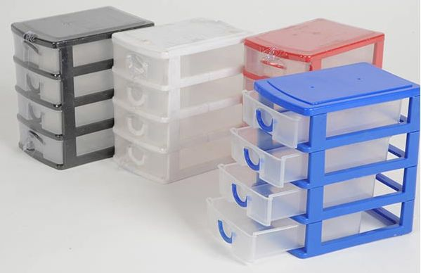 Mini  Drawer Plastic Storage Box Jewellery Craft Stationery Trinket Container