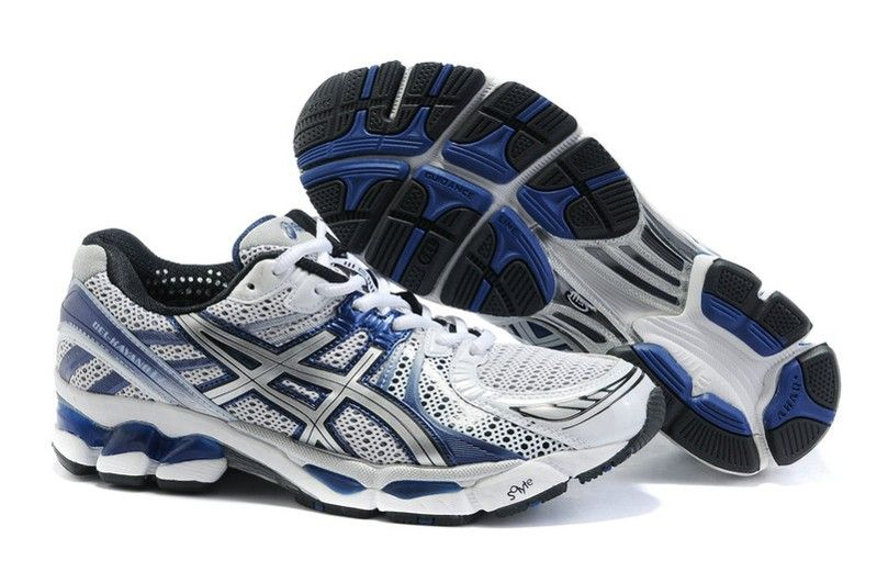 new style bffda 1a608 ASICS GEL KAYANO 17 Mens Running Shoes White Blue  onitsukatiger