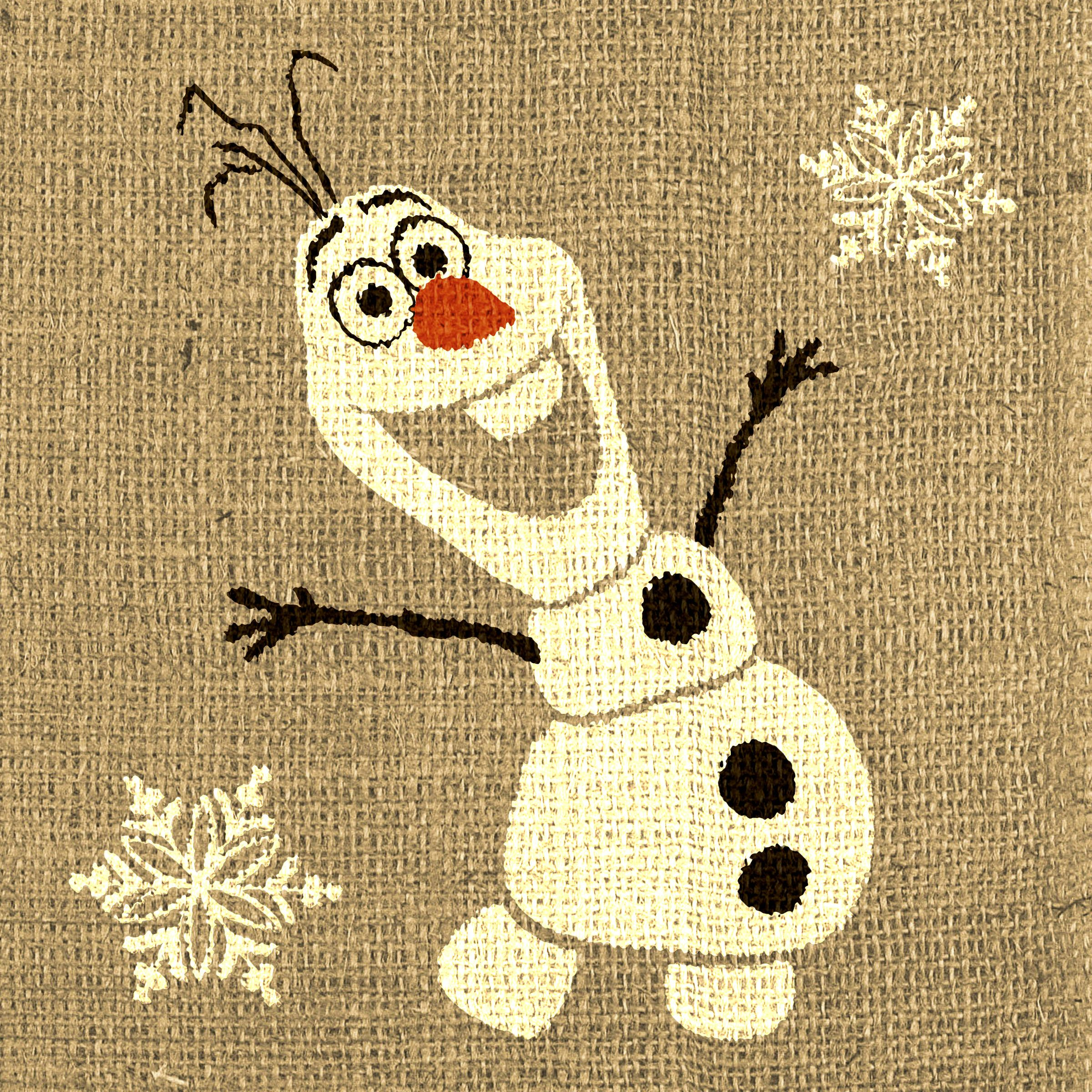 Olaf printable that looks like burlap - http://halegrafx.com ...