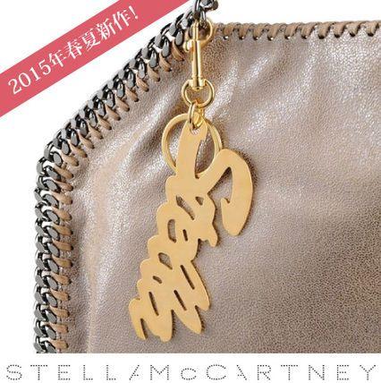 Stella McCartney キーホルダー Stellaロゴのキーチェーン:ファラベラバッグに付けても◎