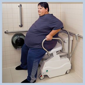 LiftSeat powered toilet lift for bariatric patients. Also ...
