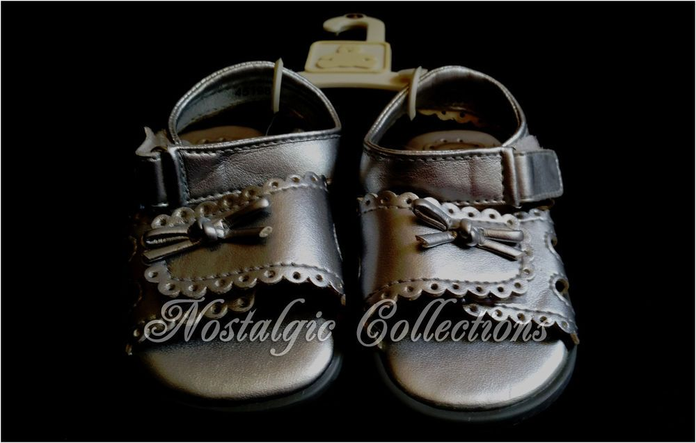 NEW Baby Gap Girls SILVER Sandals Size 4 Summer SHIMMER ...
