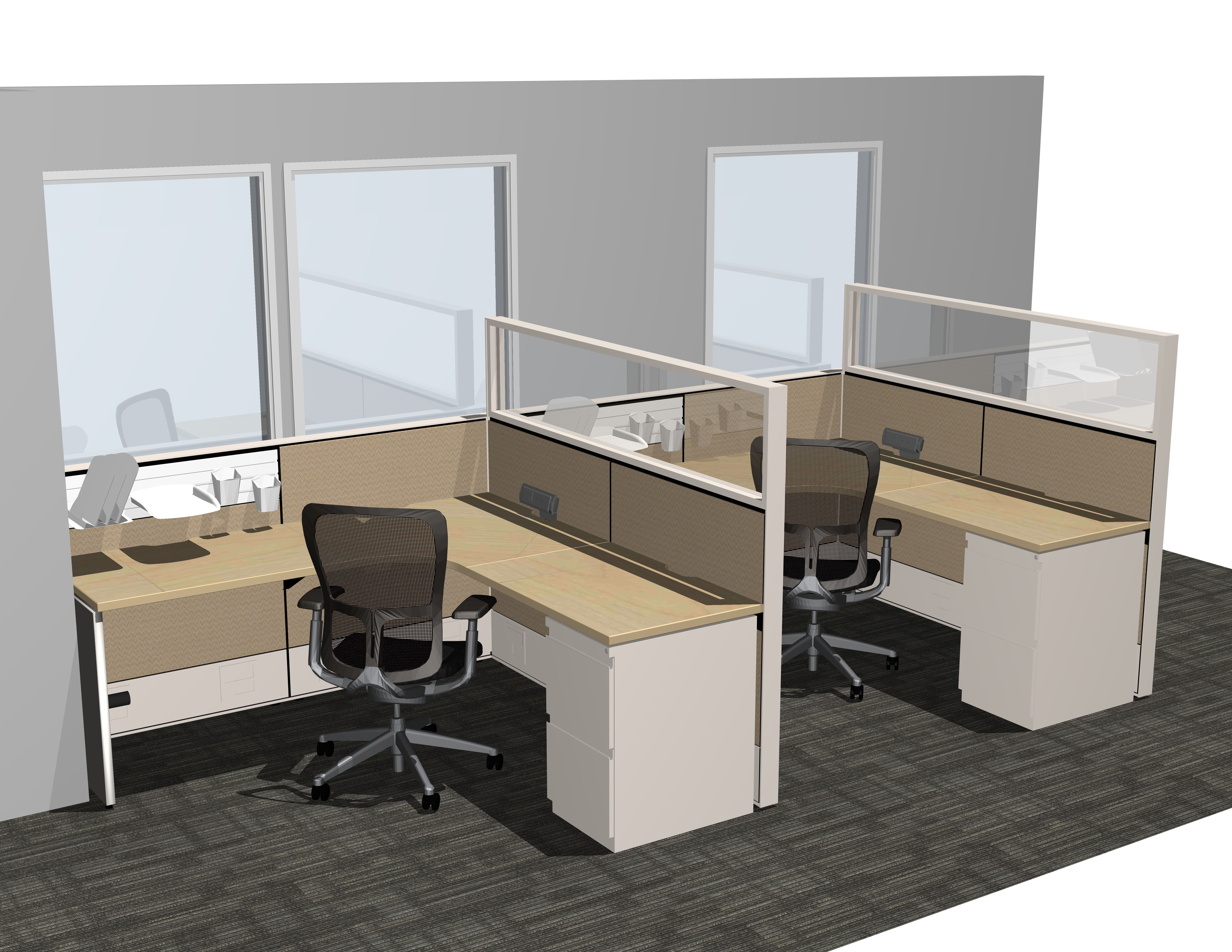 Interpret Layout 7 - Office Cubicles - Pinterest - Office Cubicles, Cubicle