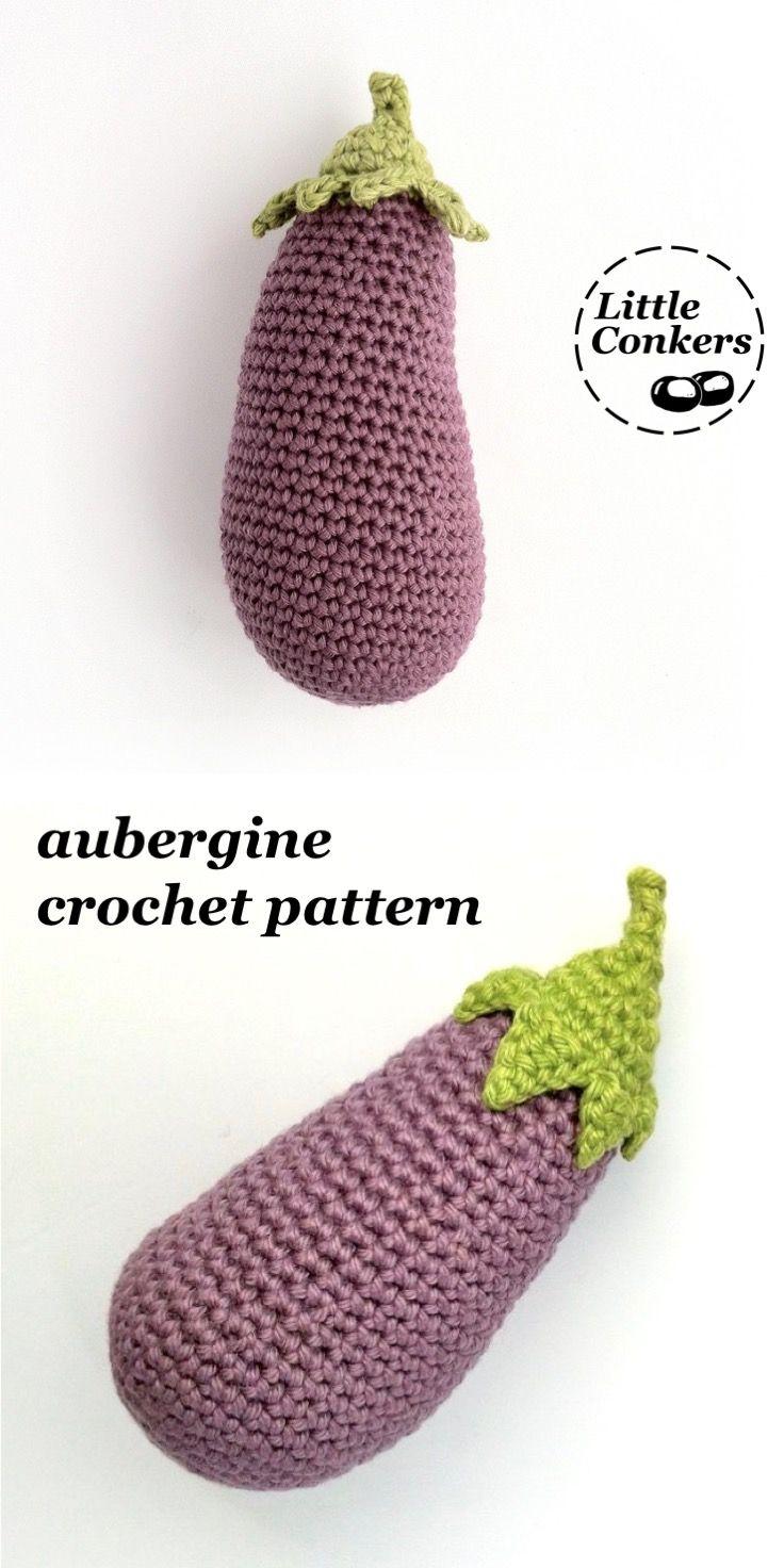 Crochet Eggplant Pattern Crochet Aubergine Pattern Crocheted