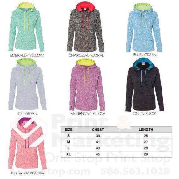 6475a499411c5 Duo Tone Ladies Custom Pullover Hood Personalized Hoodie Custom ...