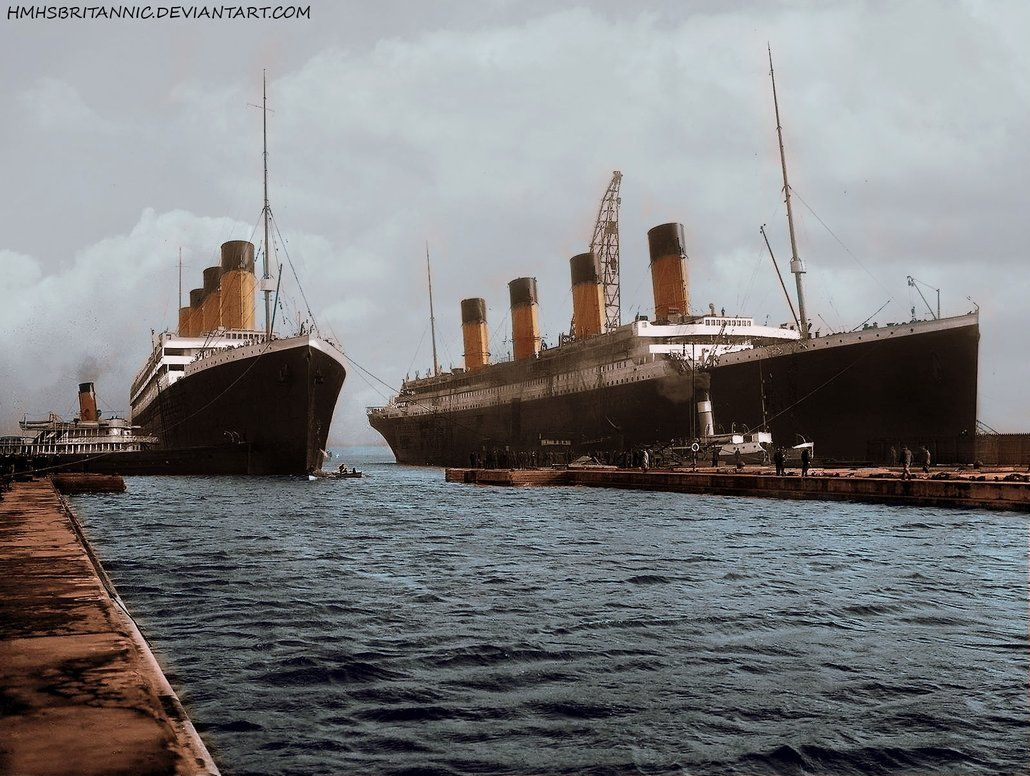Rms Olympic And Rms Titanic In Color Rms Titanic Titanic