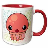 Mugs & Teacups  Symple Stuff Berryman Cute Kawaii Jellyfish Cartoon Character with Bubbles Background Coffee Mug Color: Red    This image has get 0 repins.    Author: ALAURA BAKER #Mugs #Teacups #love cartoon background