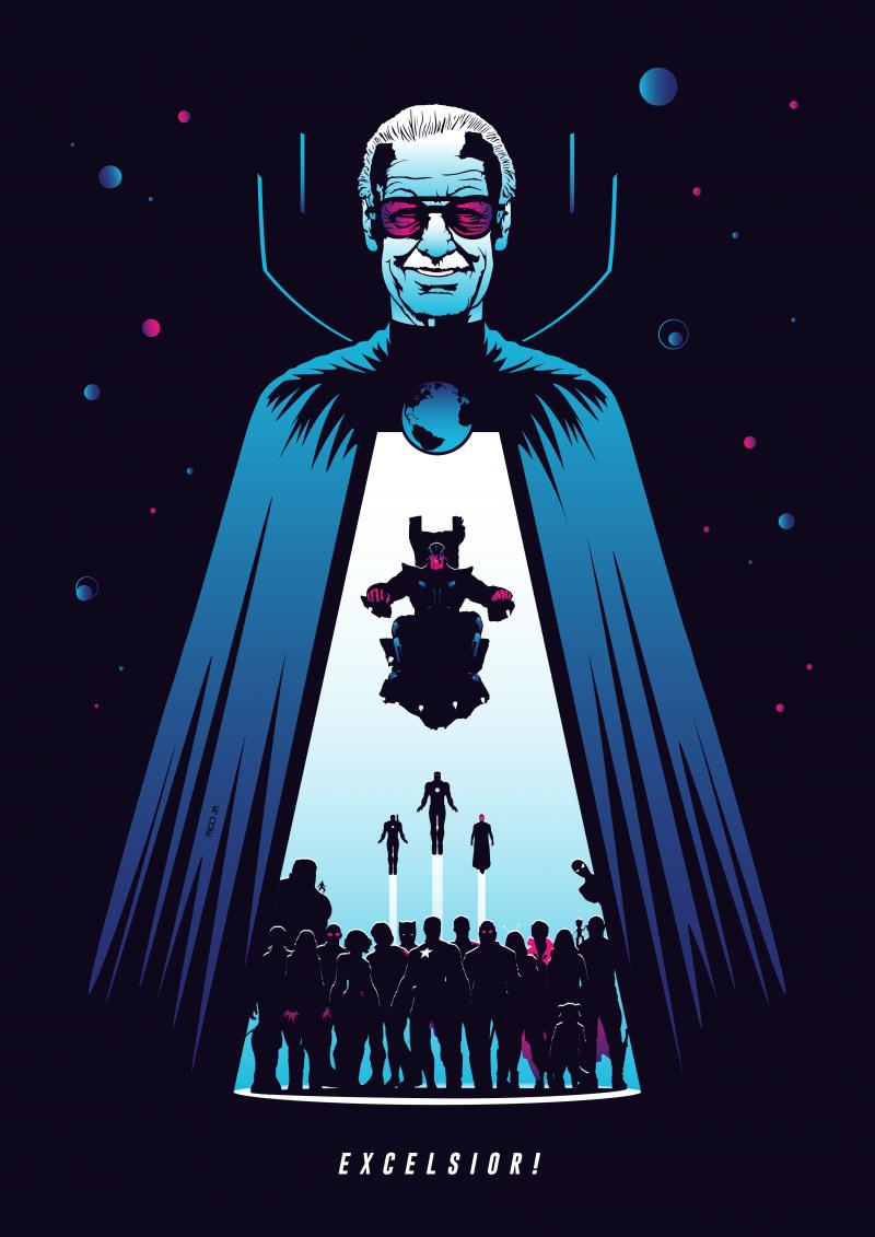 Stan Lee Tribute Poster Posterspy Stan Lee Samurai Jack Wallpapers Marvel Wallpaper