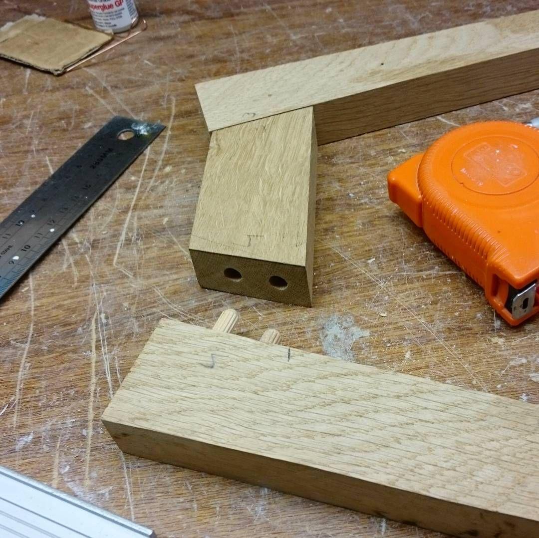 Making some wood connections . . #dowel #wood #frame #oak #oldschool ...