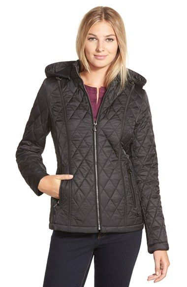 Laundry By Design Quilted Jacket With Detachable Hood Available At