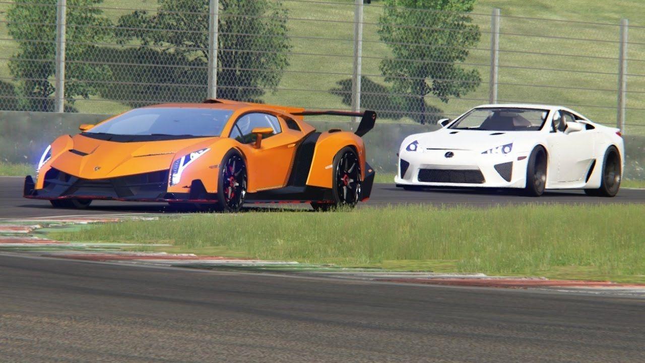 Battle Lamborghini Veneno Vs Lexus Lfa Track Edition At Mugello