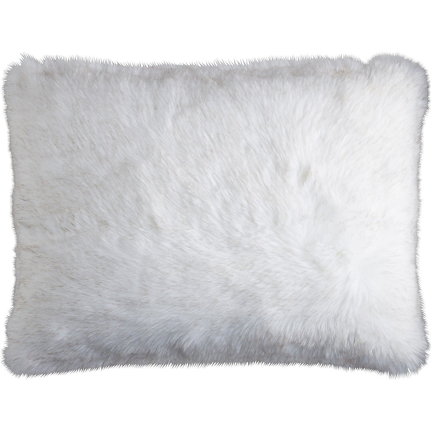 pillow pelliccia white barrel and ivory mongolian fur crate