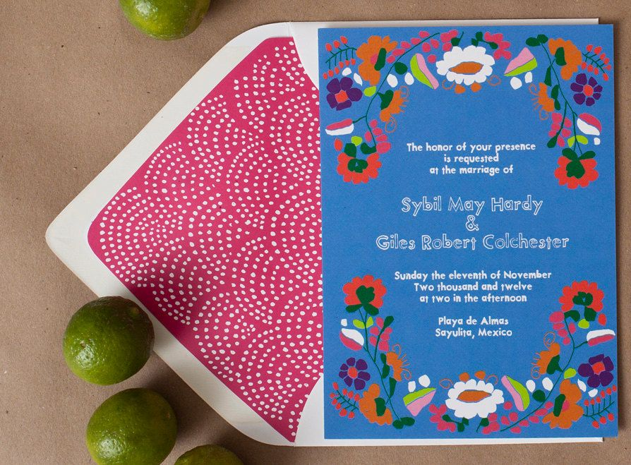 Mexican themed wedding invitations for your destination wedding ...