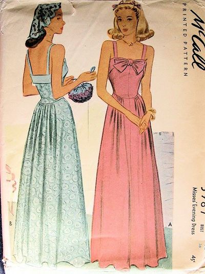 Mccall 5987 In 2020 Vintage Dress Patterns Evening Dress