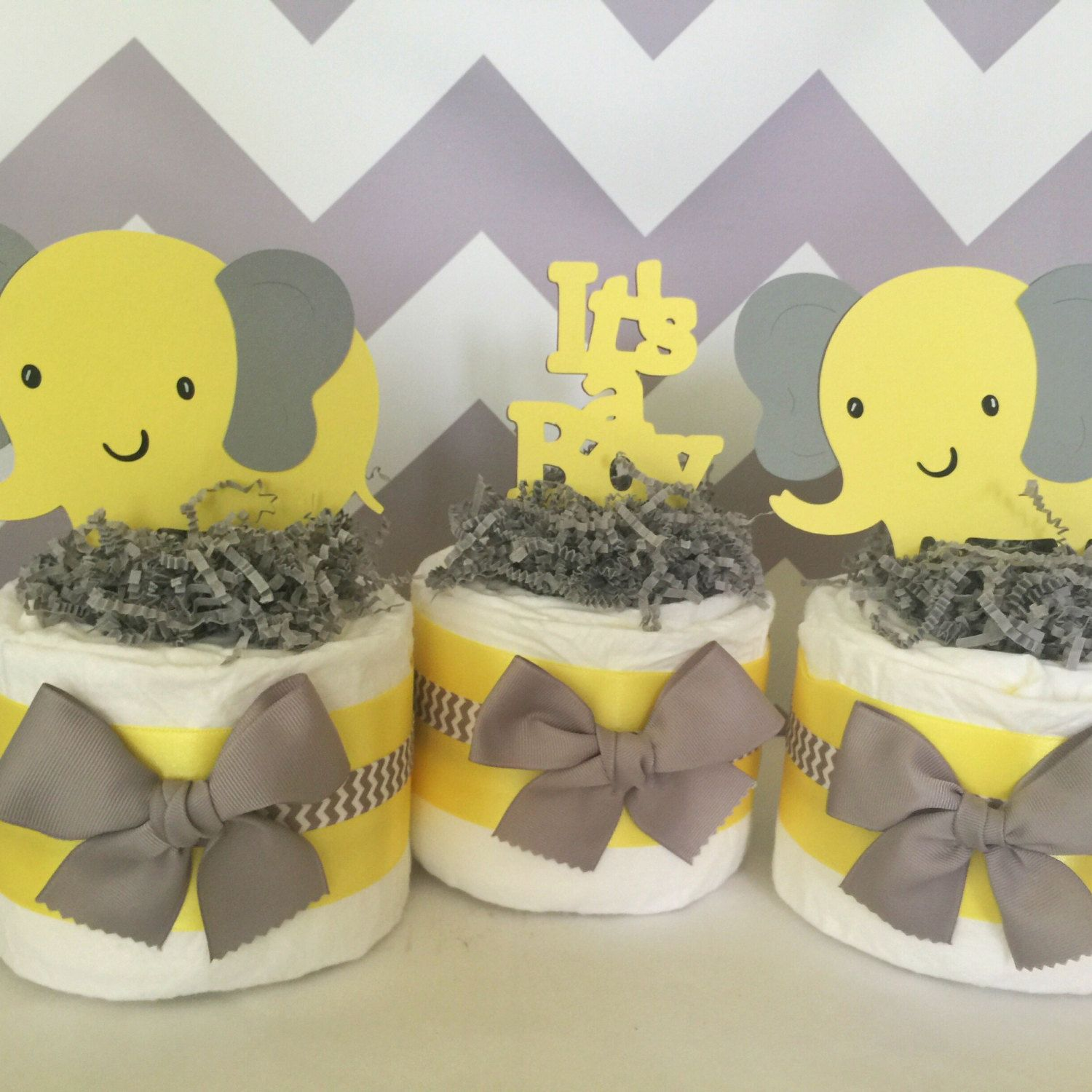 Delightful Ideas Yellow And Grey Elephant Baby Shower Decorations