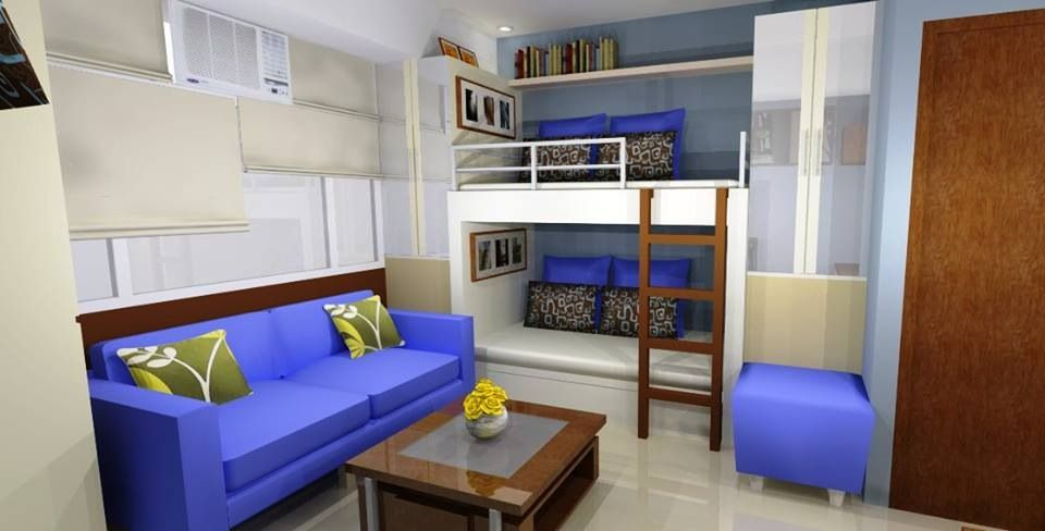 Ong Studio Type Condo In Cubao Condo Interior Design Small Studio Type Condo Ideas Small Spaces Apartment Interior