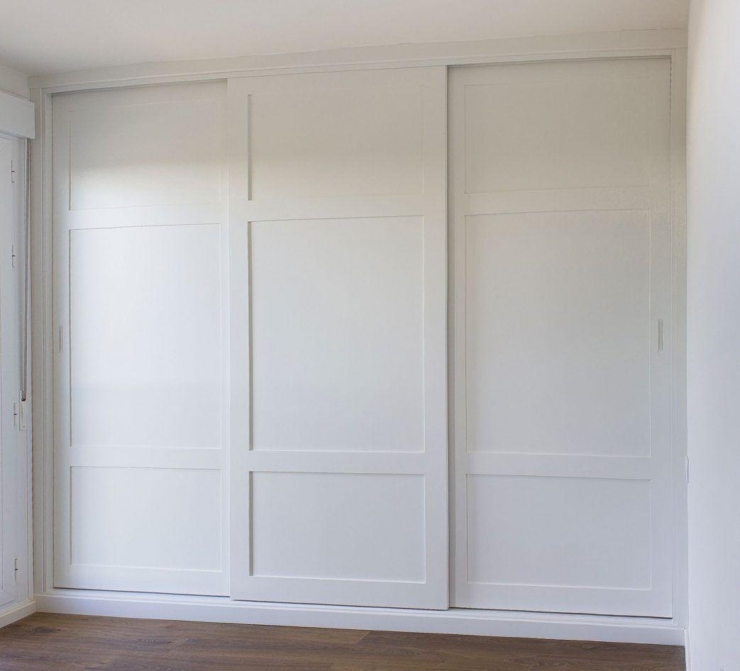 Armario Empotrado Medida Color Blanco Tres Puertas Correderas
