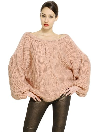 MES DEMOISELLES - CABLE KNIT WOOL SWEATER - LUISAVIAROMA - LUXURY SHOPPING WORLDWIDE SHIPPING - FLORENCE