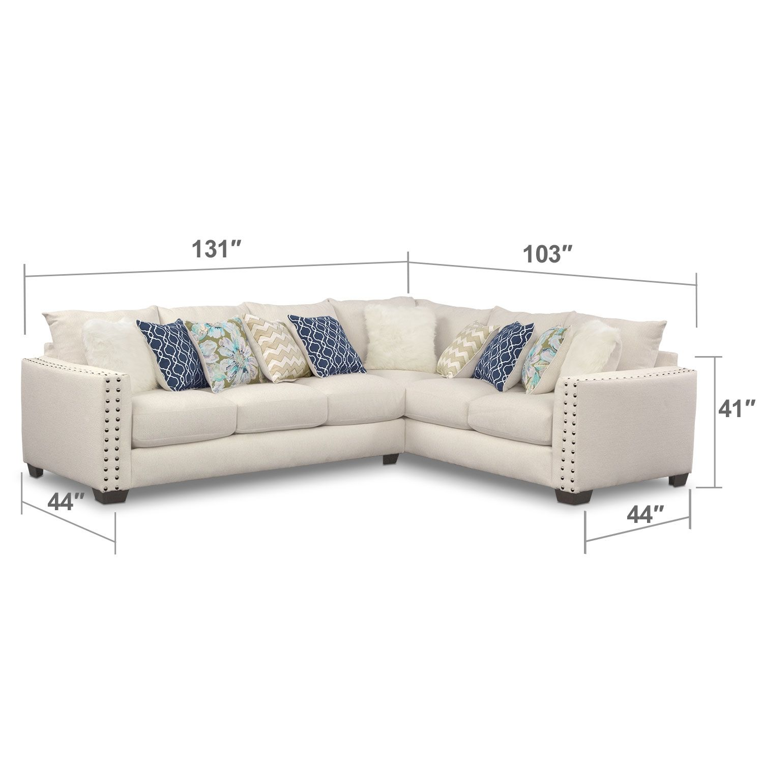1500 1700 with pull out bed Lolita 2 Pc Sectional Value