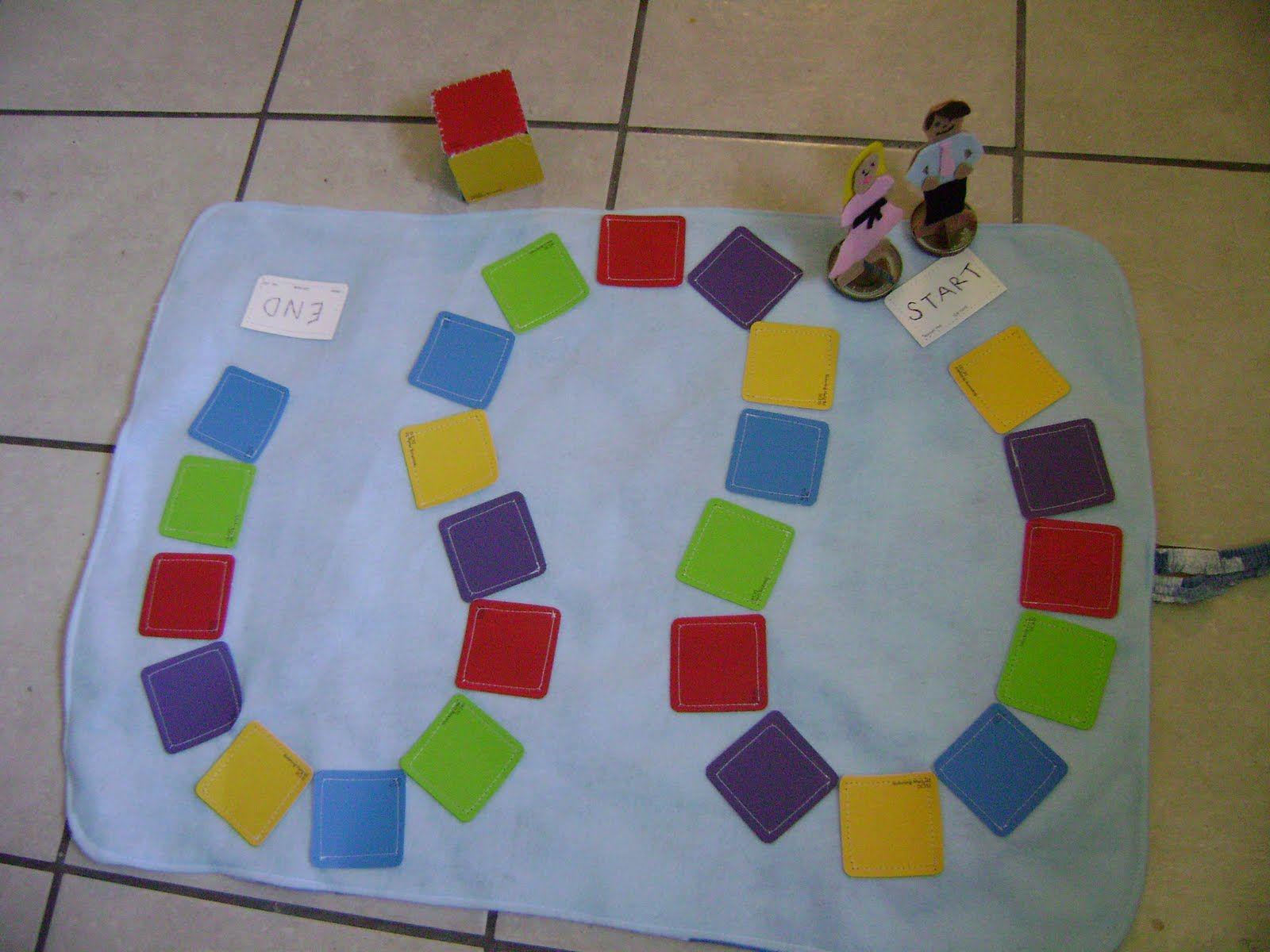make your own board game using paint chips lernen. Black Bedroom Furniture Sets. Home Design Ideas