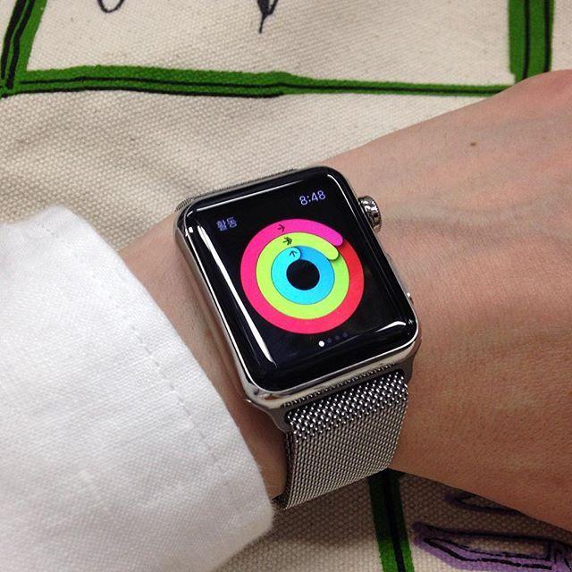 확실히 오늘 많이 싸돌아댕겼구나. 애플워치 산 이후 처음으로 활동앱 링 다 채움! #WATCH # #Activity #AppleWatch #애플워치 #Watch #시계 by hyunghwan