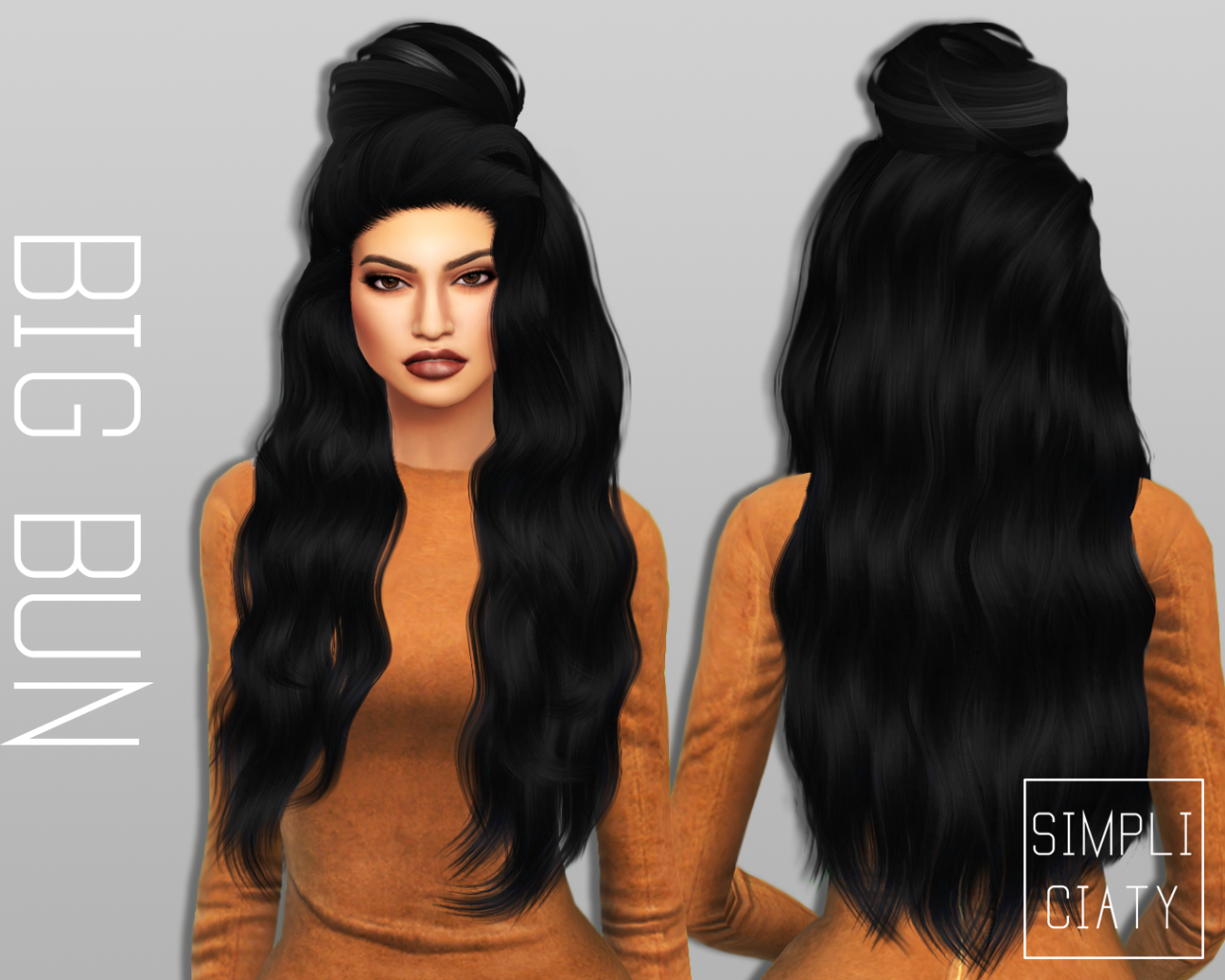 The sims 4 hair accessories - My Sims 4 Blog Accessory Hair Buns By Simpliciaty