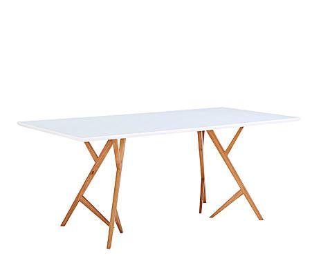 DESIGN IDOLS: Mesa de comedor en madera - blanco