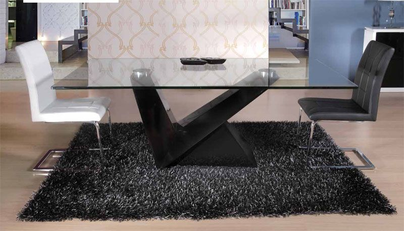 mesas de comedor modernas mesas de comedor en cristal Moderno