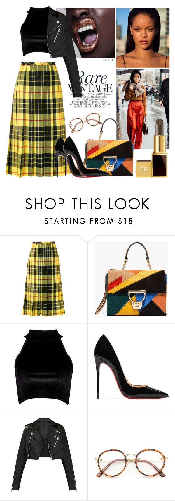"""""""Clueless part 2"""" by oshonsparkles ❤ liked on Polyvore featuring Junya Watanabe Comme des Garçons, Boohoo and Christian Louboutin"""