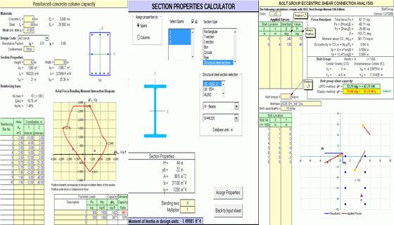 Structural Engineering Spreadsheet Construction Program Spreadsheet Structural Engineering Construction Estimating Software Civil Engineering Design