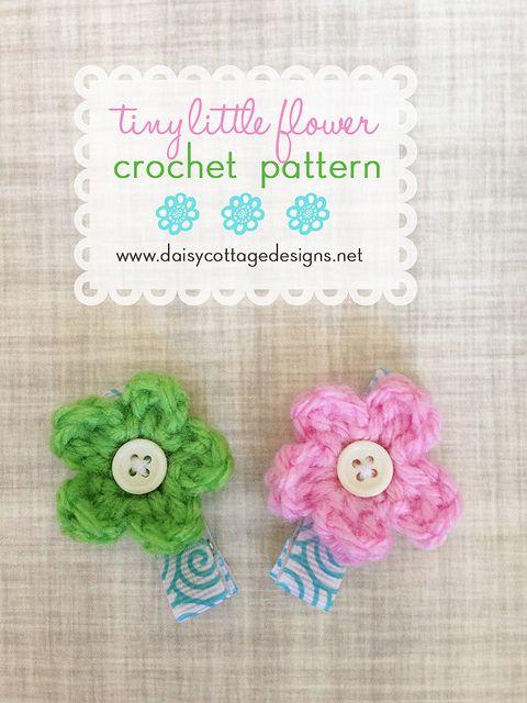 Tiny Little Crochet Flower Hair Clip Crochet Flower Pinterest