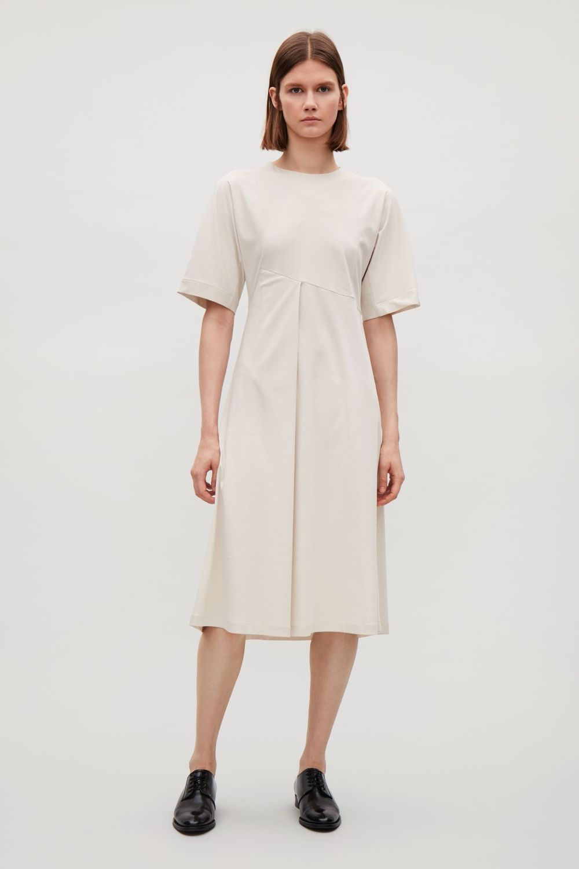 1fbf7c121170b Jersey dress with seams - Beige - Dresses - COS US | Fantasy ...