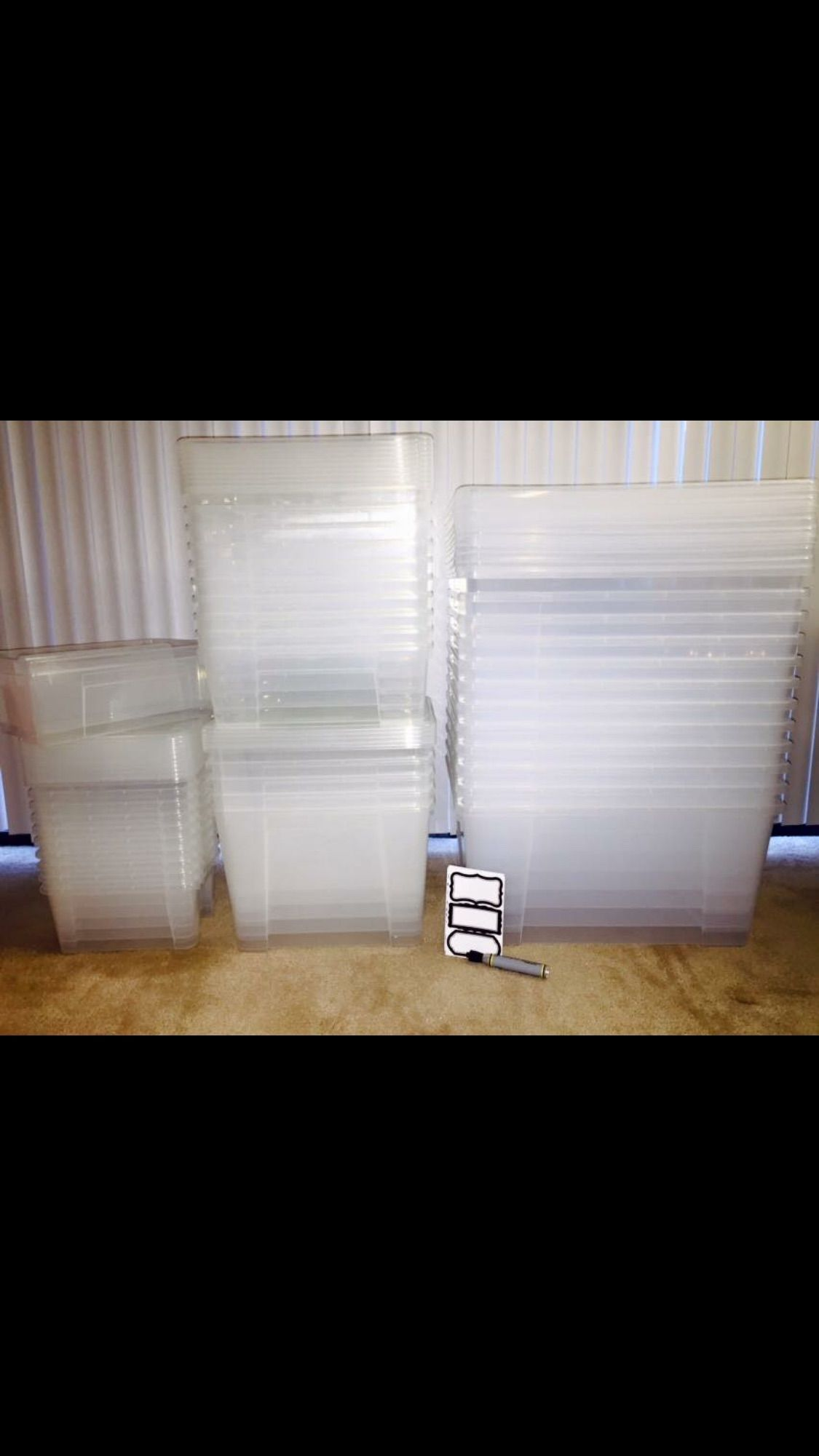 This Is What 150 Of Ikea Samla Clear Boxes Looks Like And They Were 30 On A Mission To Organize Everything Ikea Samla Clear Box Ikea