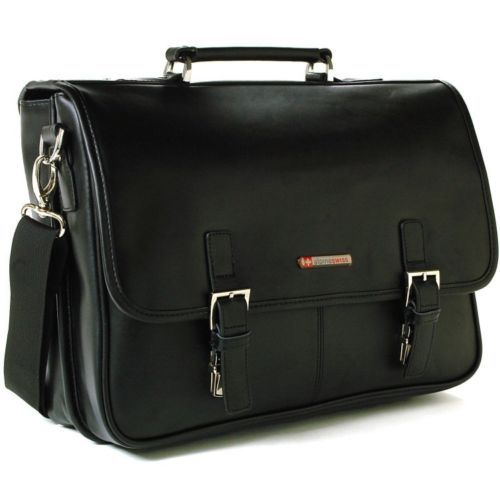 Laptop-Computer-Case-Carrying-Bag-Travel-Briefcase-Leather-High-Quality-15-6-In