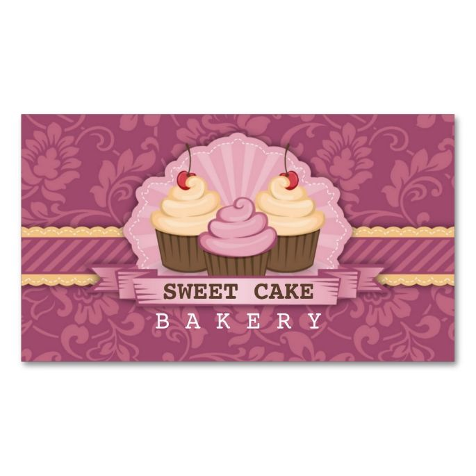 Cupcake bakery cute business card make your own business card with cupcake bakery cute business card make your own business card with this great design reheart Choice Image