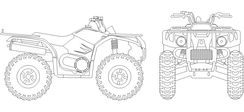 картинки с чертежами квадроциклов суше