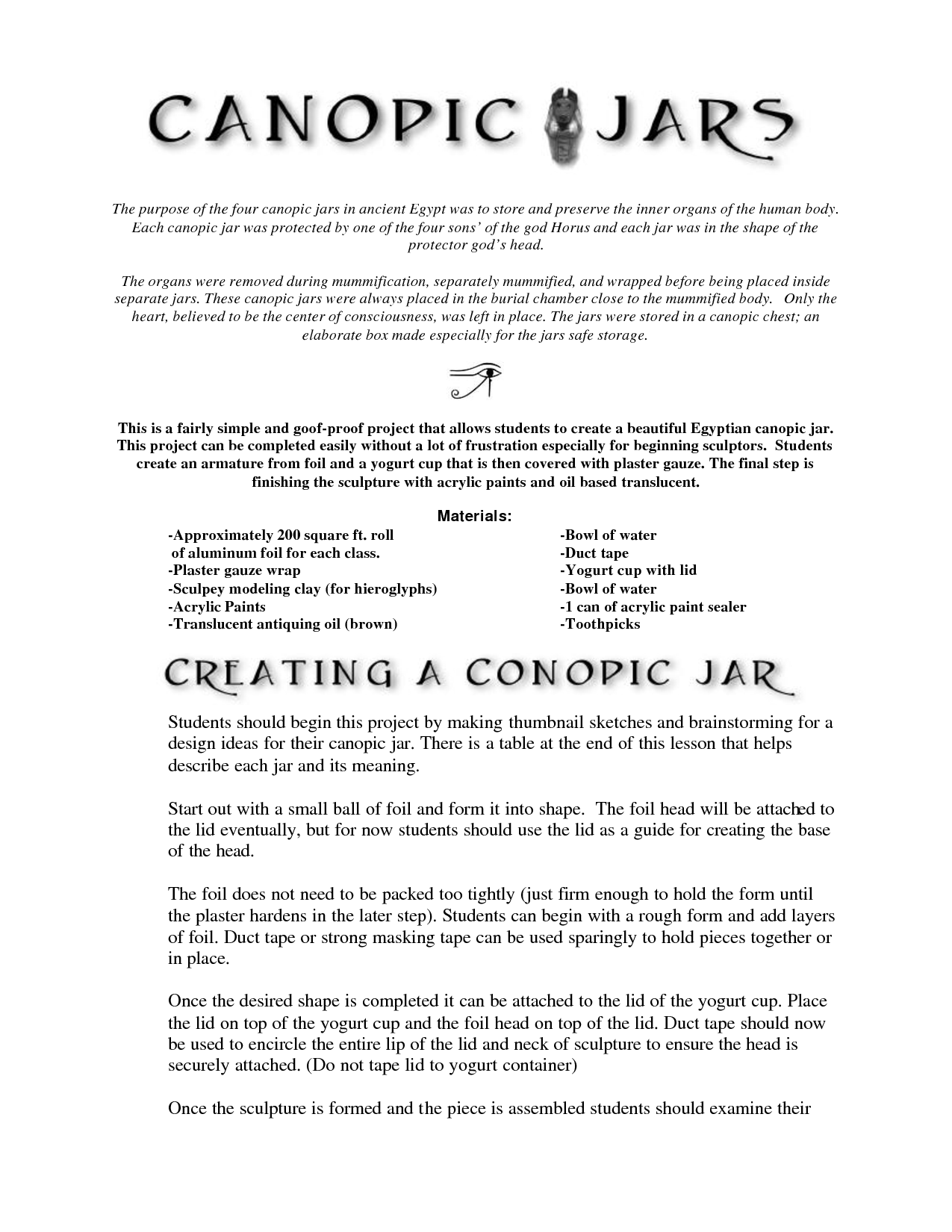 scope of work template | Ancient Egypt Art Projects and Inspiration ...