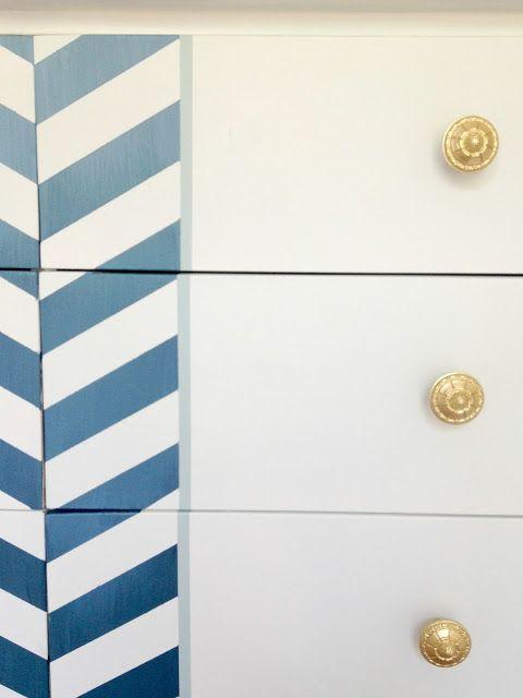 DIY Herringbone Dresser | LiveLoveDIY Ombre effect