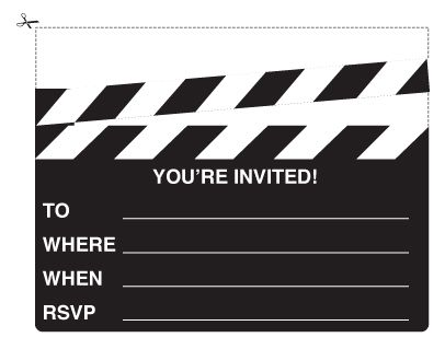 For the first time in five years I will not be throwing an Oscars – Hollywood Themed Party Invitations