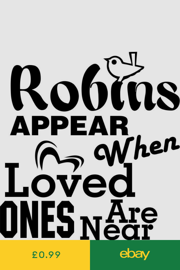 Download Robins appear when Loved Ones are near Glass Sticker ...